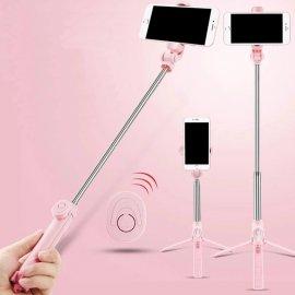 Bezdrôtová BT Selfie tyč pre mobily statív, teleskopická 19-76cm / Poštovné ZADARMO!