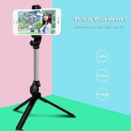Luxusní Selfie tyč, teleskopická, stavitelná 27,5-80cm, tlačítko, univerzální