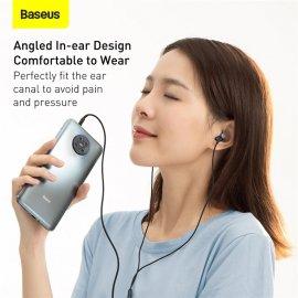 Sluchátka do uší Baseus H04 Bass, mikrofon, ovládání, 3.5mm Stereo Jack /Poštovné ZDARMA!