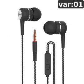 Sportovní Sluchátka do uší VPB S12 Super BASS, mikrofon, ovládání, 3.5mm Stereo Jack, univerzální