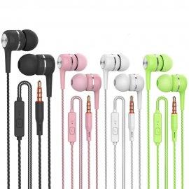 Športové Slúchadlá do uší VPB S12 Super BASS, mikrofón, ovládanie, 3.5mm Stereo Jack, univerzálne