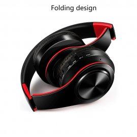 Nádherná skládací bezdrátová sluchátka s mikrofonem a MicroSD, BT, 3.5mm jack /Poštovné ZDARMA!