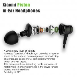 Slúchadlá do uší Xiaomi Mi PISTON, 3.5mm, HD mikrofón, kôstky