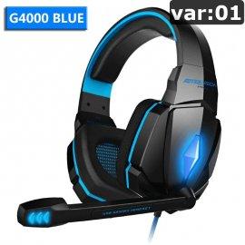 Kvalitní herní sluchátka EACH G, stereo, Deep BASS, mikrofon, ovládání, regulace hlasitosti, USB + 2x3.5mm, LED