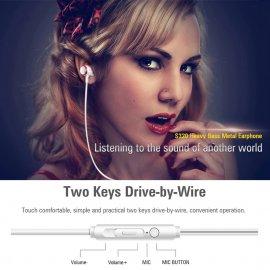 Extra BASS HiFi Sluchátka do uší S320, mikrofon, 3.5mm, ovládání /Poštovné ZDARMA!