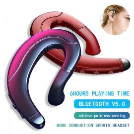 Sportovní sluchátka s technologií Bone conduction, Handsfree headset BT 5.0, IPX5 voděodolné, mikrofon /Poštovné ZDARMA!