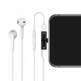 2v1 Kovová mini rozdvojka Audio / nabíjení pro iPhone XS Max XR X 11 12 Pro Max 8 Plus /Poštovné ZDARMA!