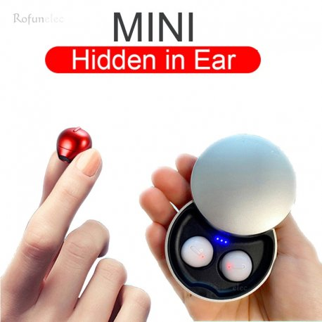 Sportovní Bezdrátová mini diskrétní sluchátka, BT, mikrofon, nabíjecí stanice /Poštovné ZDARMA!