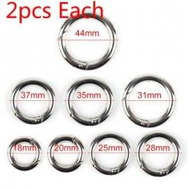 2KS Karabina kruhová 36 mm, kulatá, kroužek, slitina zinku /Poštovné ZDARMA!