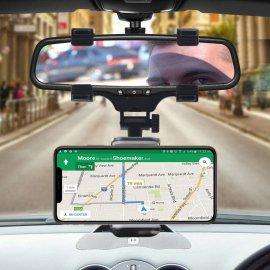 Otočný držák mobilu na zpětné zrcátko auta /Poštovné ZDARMA!