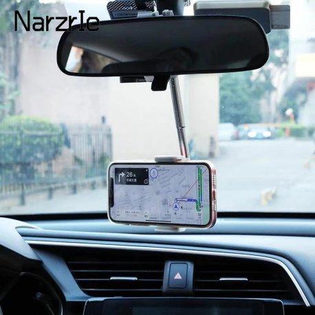 Otočný držák mobilu do auta, uchycení na zpětné zrcátko, nebo opěrku hlavy /Poštovné ZDARMA!7