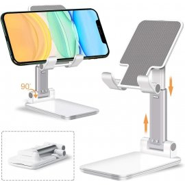 """Stabilní teleskopický stolní stojan pro mobily a tablety, nastavitelný úhel, univerzální 4-13"""" /Poštovné ZDARMA!"""