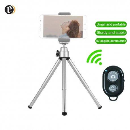 Hliníkový mini statív pre mobily, kamery, gopro, insta360, teleskopický, 360 ° rotácia, trojnožka / Poštovné ZADARMO!