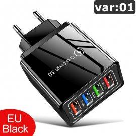 4 portová USB nabíjačka, QC 3.0 rýchlonabíjanie, univerzálne / Poštovné ZADARMO!