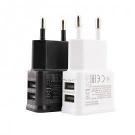 Univerzálna duálny USB nabíjačka 5V 2A - 2xUSB / Poštovné ZADARMO!