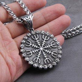 Vikingský amulet Helm of Awe - Viking Vegvisir /Poštovné ZDARMA!