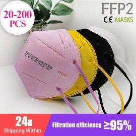 20-200ks FFP2 Respirátor KN95 PM2,5 / Poštovné ZADARMO!