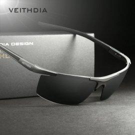 Kvalitné slnečné polarizované okuliare VEITHDIA 6588 Aluminum Magnézium + puzdro + obrúsok + karta / Poštovné ZADARMO!