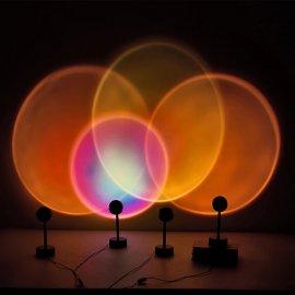 Projekční lampa západ slunce, USB, noční světlo, dekorace na zeď, lampička / Poštovné ZADARMO!