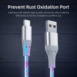 Rychlonabíjecí LED svítící kabel Micro USB / USB-C, univerzální /Poštovné ZDARMA!