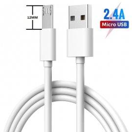 2.4A Kábel pre Oukitel K10000 Pre C8 K3 U20 Plus K6000 Blackview A30 A7 V8, Micro USB, konektor 12mm