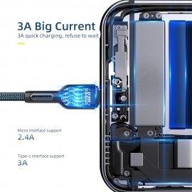 Rýchlonabíjací USB-C kábel Baseus, QC 3.0 3A, 0.5 - 4M / Poštovné ZADARMO!