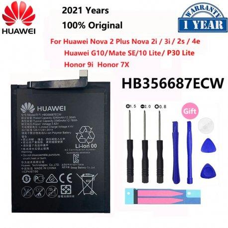 Baterie pro Huawei Nova 2 plus 2i 3i 4e 2S G10 Mate 10 Lite Honor 7x 9i P30 Lite, HB356687ECW, 3080mAh + nástroje