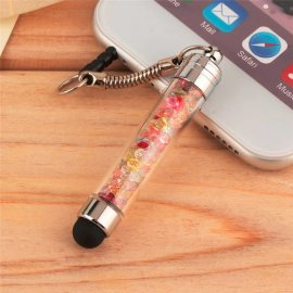 Dotykové pero stylus, zástrčka do slúchadlového jacku, luxusné kryštály / Poštovné ZADARMO!