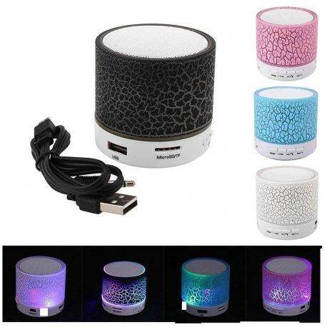 LED Mini přenosný reproduktor BT, Handsfree, USB, MicroSD /Poštovné ZDARMA!