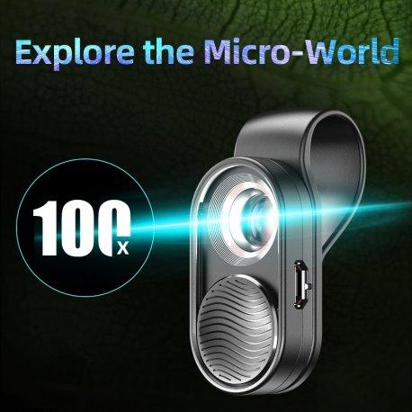 Univerzální čočka pro mobily, Rybí oko, Makro, Široký úhel, klip