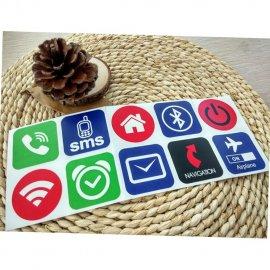 10ks NFC TAG nálepka NFC213 13.56mhz RFID /Poštovné ZDARMA!