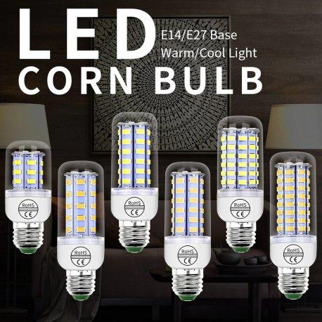 LED žiarovka 220V GU10 24-72 LED SMD 5730 E14 E27 B22 G9 / Poštovné ZADARMO!