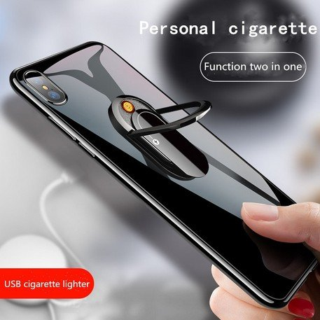 Electric lighter and stand for mobile 2in1