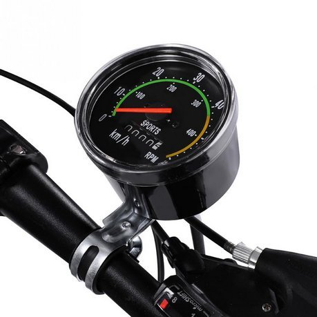 Retro mechanical speedometer for bicycles