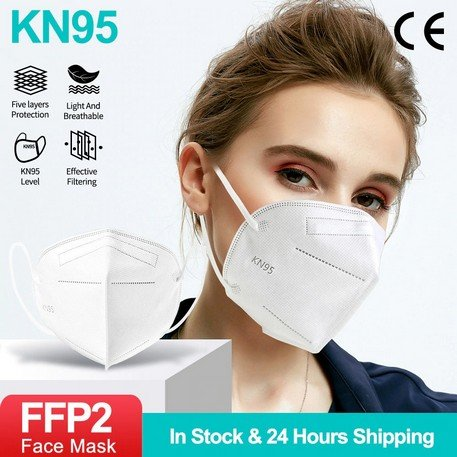 Respirator KN95 FFP2 10 - 100Ks v balení